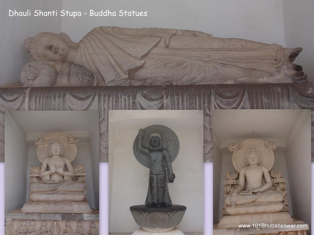 Bhuddha statues at Dhauligiri