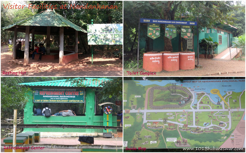 Visitor Facilities - Resting Hut, Refreshment Center, Toilet Complex, Guide Map