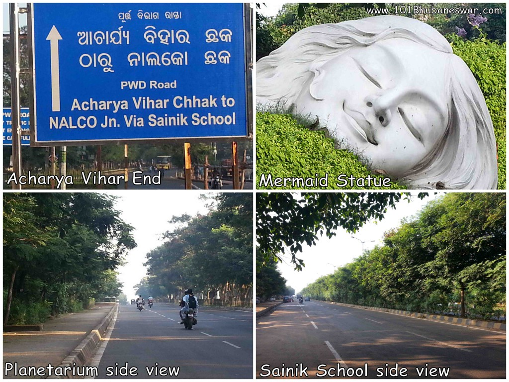 Acharya Vihar to Sainik School Road