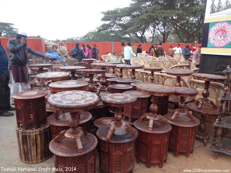 Toshali National Craft Mela, 2014 - Wooden Crafts Stall