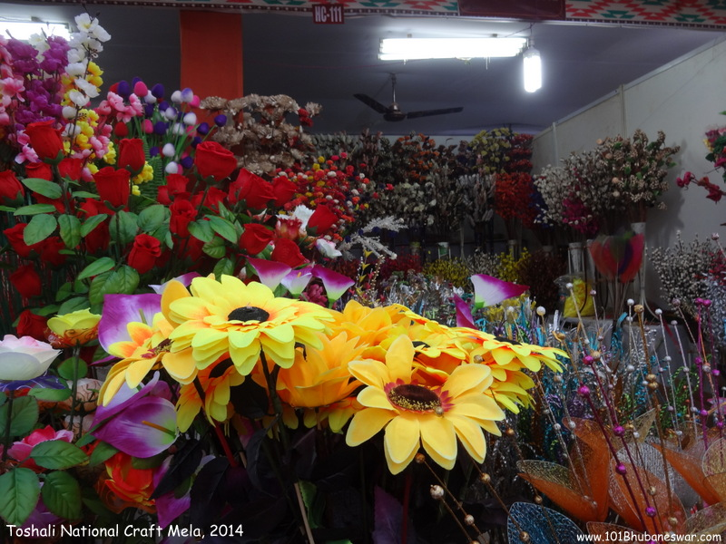 Toshali National Craft Mela, 2014 - Artificial Flower Craft Stall