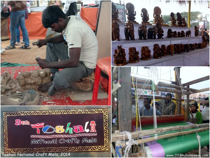Toshali National Craft Mela, 2014 - Craftsmen at creation