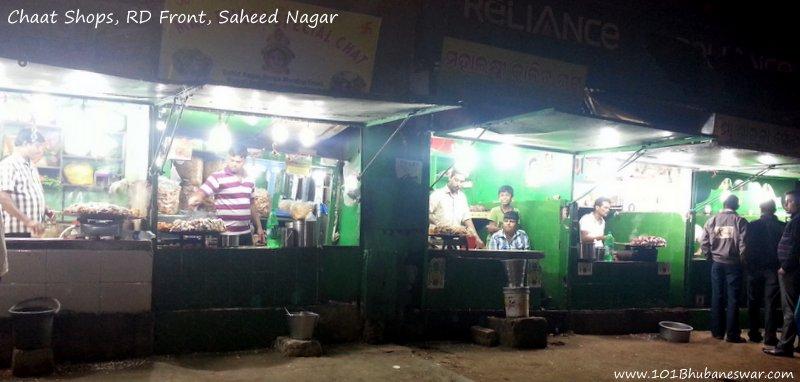 Chaat Shops, Ramadevi Front, Saheed Nagar