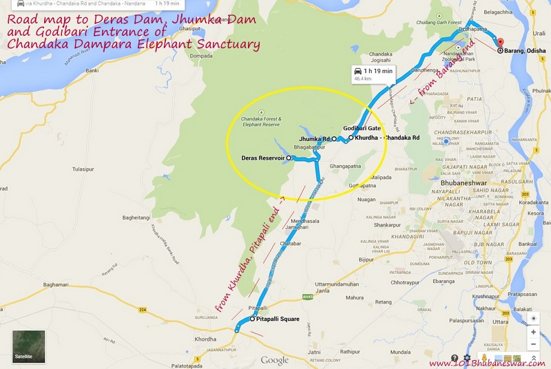 Road map to Deras, Jhumka and Godibari