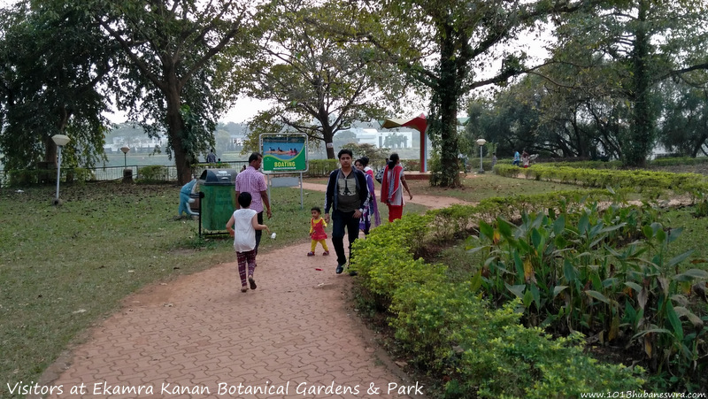 Visitors at Ekamra Kanan Botanical Gardens & Park