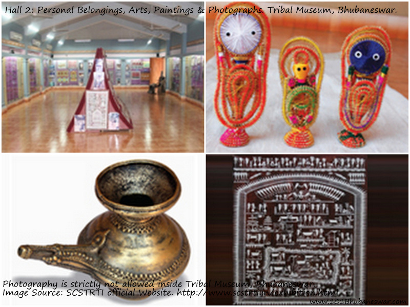 Hall 2: Personal Belongings, Arts, Paintings & Photographs. Tribal Museum, Bhubaneswar.